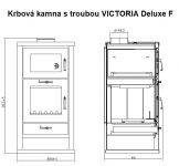 Krbová kamna s troubou VICTORIA Deluxe F