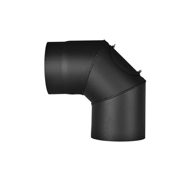 Kouřovod tl. 1,5 mm koleno 90 stupňů s čisticím otvorem HS Flamingo