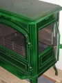 Franco Belge Limousin smalt zelená majolika - kamna litinová DOPRAVA ZDARMA nad 10 000 Kč