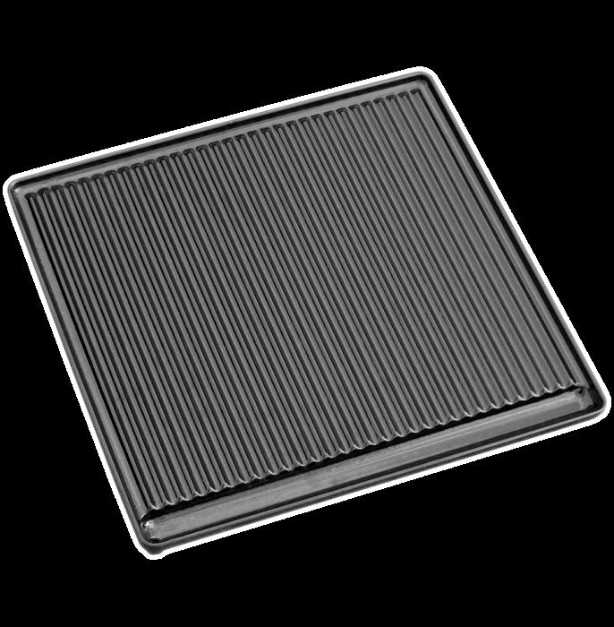 Litinová grilovací deska vroubkovaná velká Plamen
