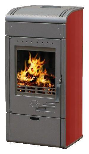 Plamen VESTA 7 kW červená - kamna krbová litinová