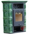 Thorma Borgholm TOP Keramik olivově zelená - kamna kachlová