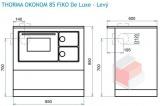 Thorma OKONOM 85 FIKO De Luxe bílý - sporák na tuhá paliva