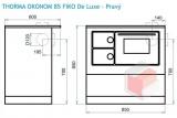 Thorma OKONOM 85 FIKO De Luxe hnědý - sporák na tuhá paliva DOPRAVA ZDARMA nad 10 000 Kč